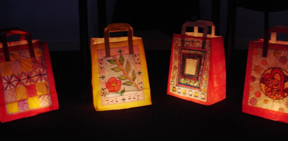 Illuminated lantern created by participants