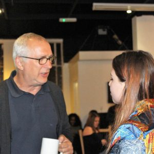 Henry Normal with Amelia Daiz – a member of City Arts 'Young Producers' group