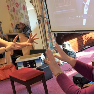 Workshop with care home residents